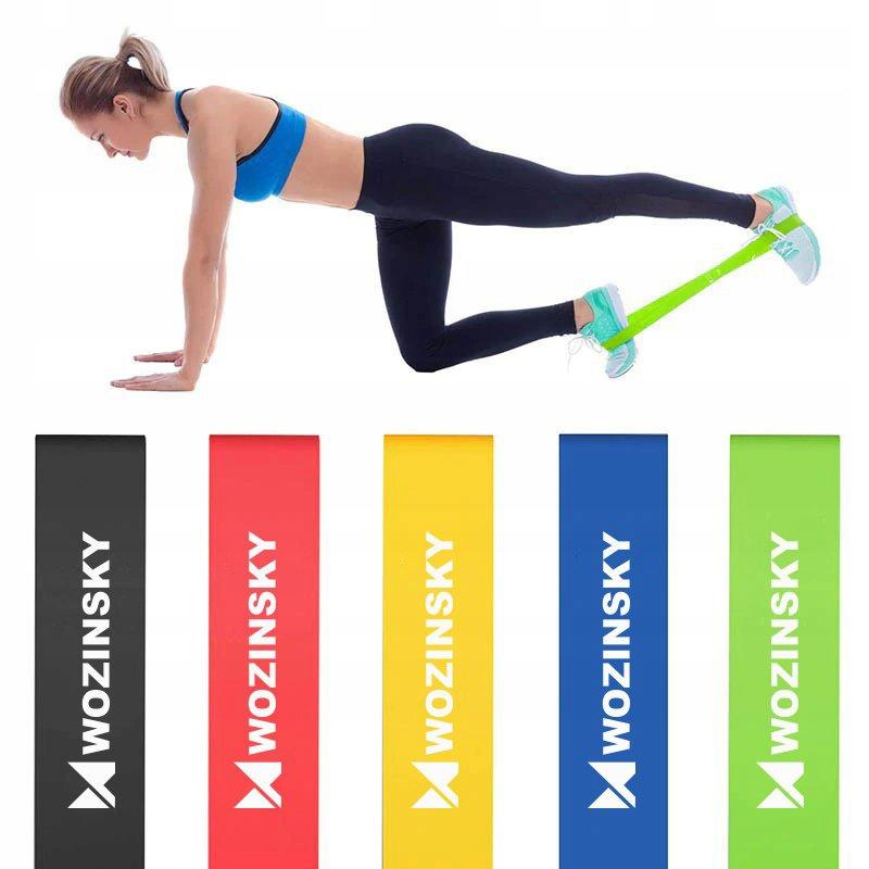Taśmy Gumy oporowe do ćwiczeń joga fitness Szerokość 5 mm