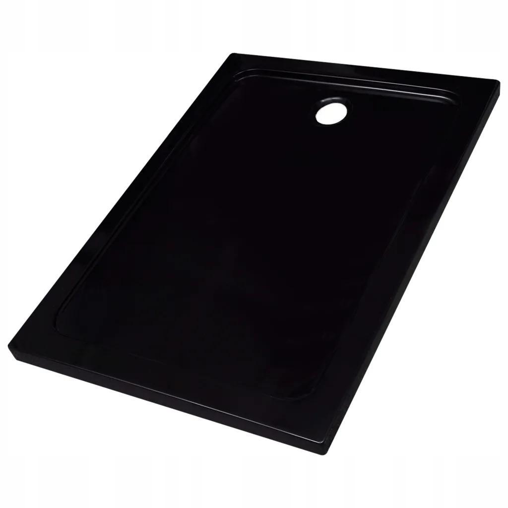 Čierny obdĺžnikový sprchový žľab ABS 80x110