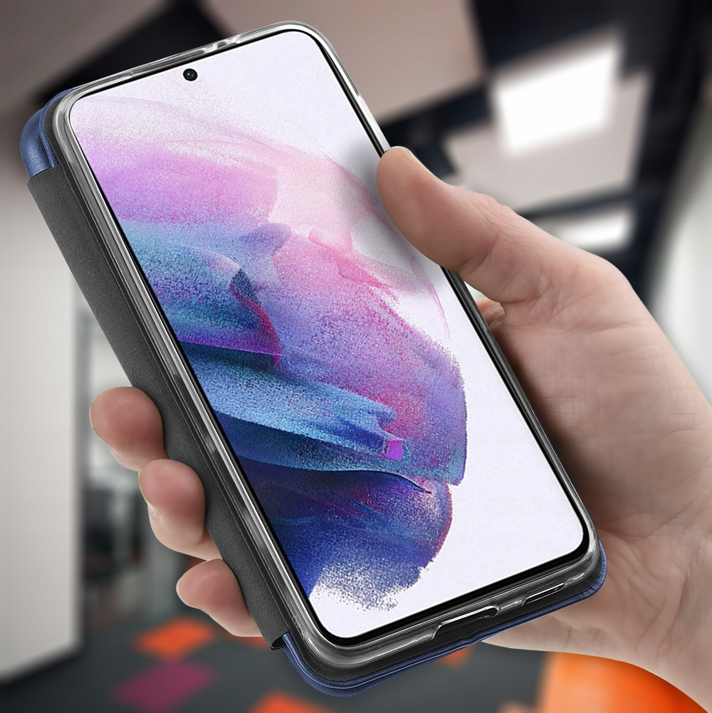 Etui do Samsung Galaxy S21 Skórzane Magnet + SZKŁO Producent Kraina GSM