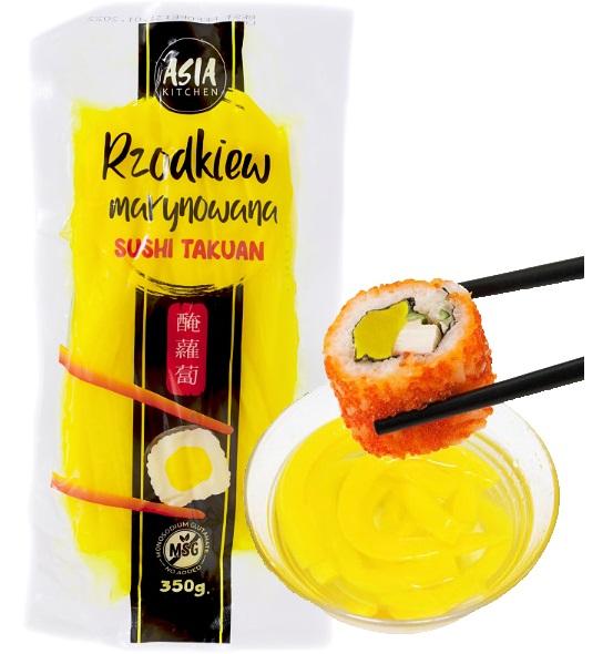 Дайкон Такуан Редис для суши нарезанный 350г