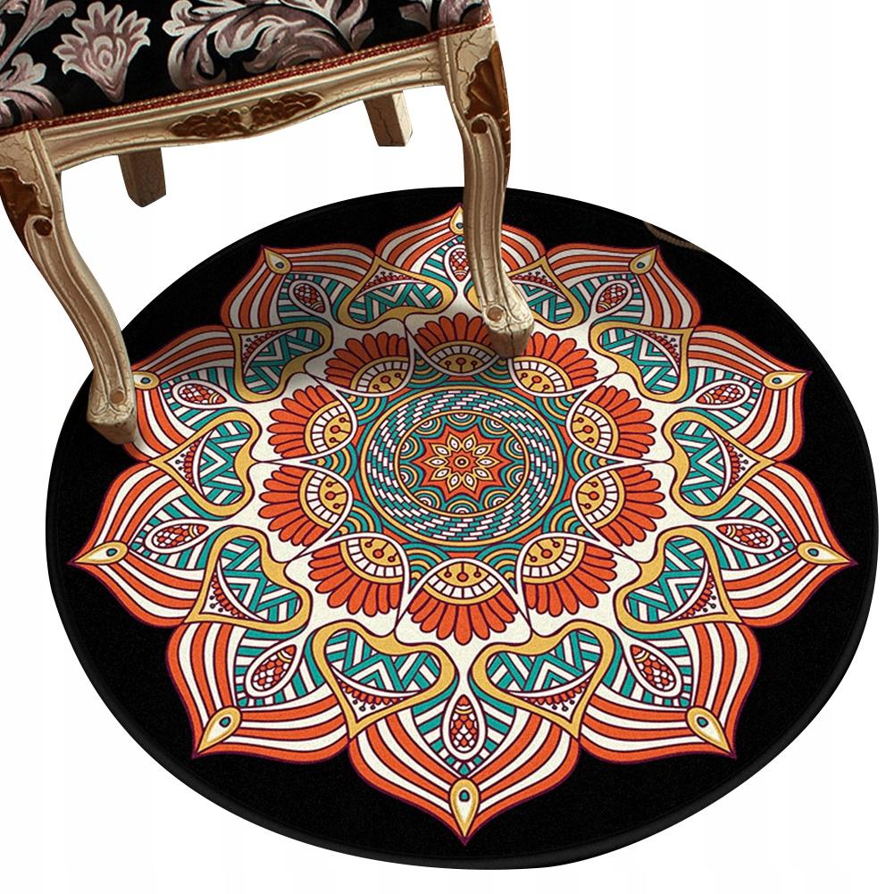 Okrúhly koberec, retro, etnický štýl 100 cm