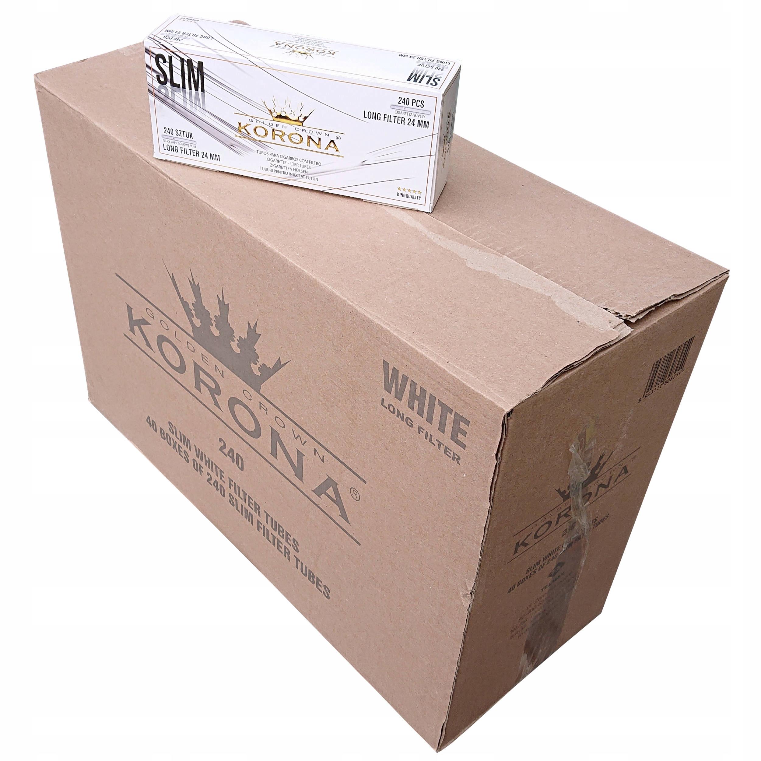 40 сигарет Thimble Korona Slim Long 240