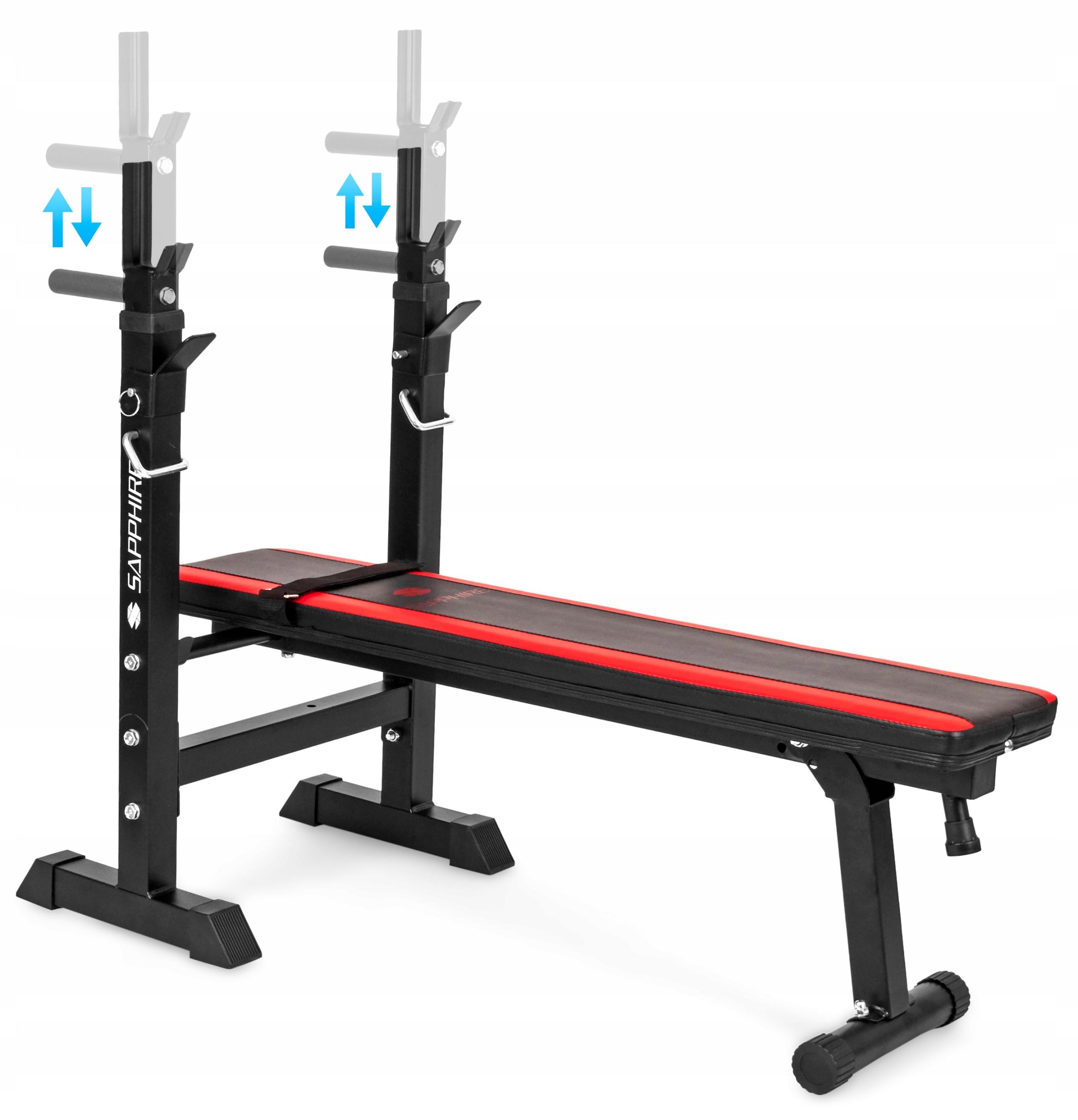 XYLO siłownia 46 kg zestaw ŁAWKA+GRYF+OBCIĄŻENIA Elementy zestawu gryf prosty ławka regulowana talerze/obciążenia