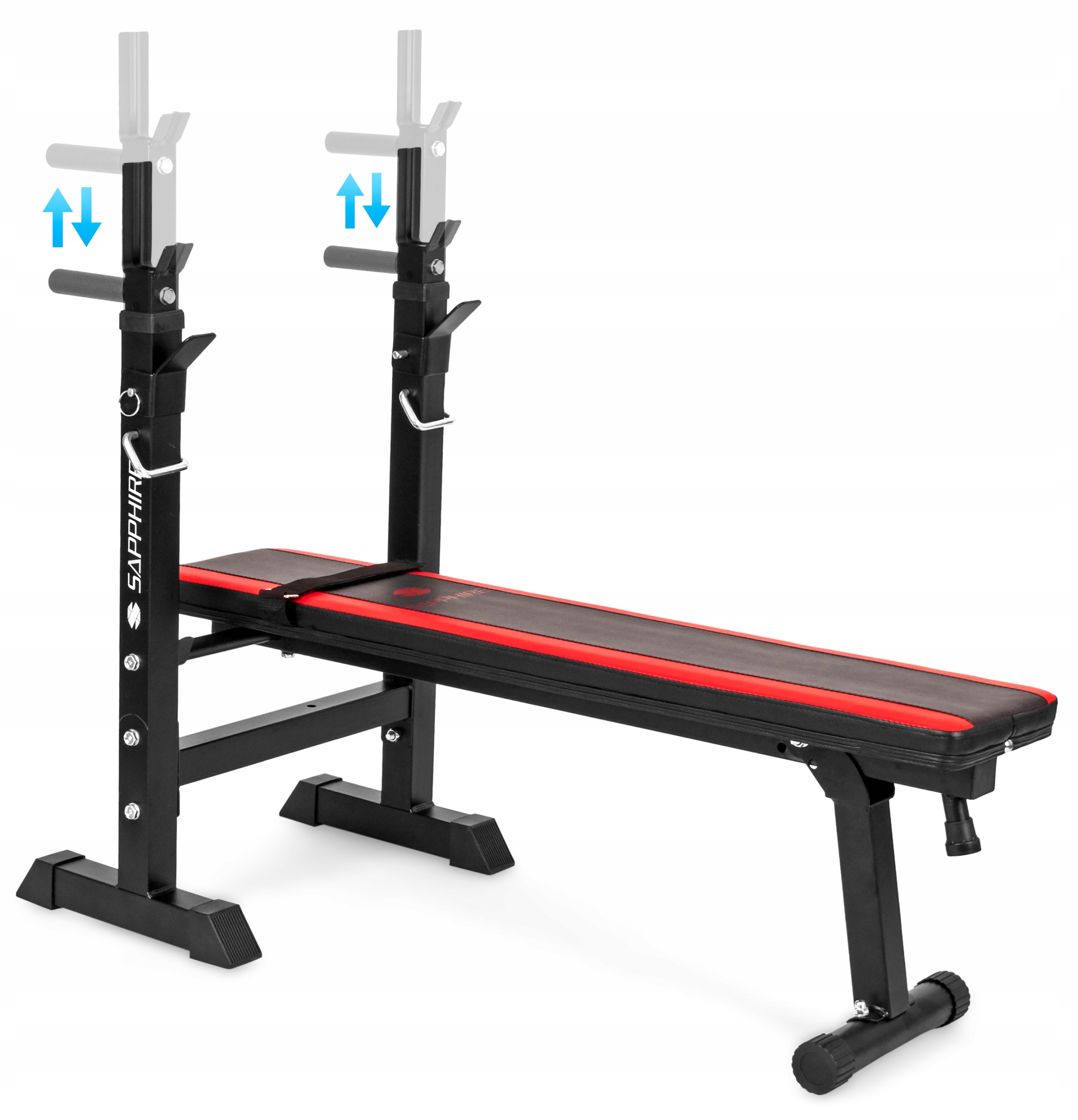 XYLO siłownia 56 kg zestaw ŁAWKA+GRYF+OBCIĄŻENIA Elementy zestawu gryf prosty ławka regulowana talerze/obciążenia