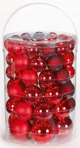 Sada 58 červených vianočných gúľ