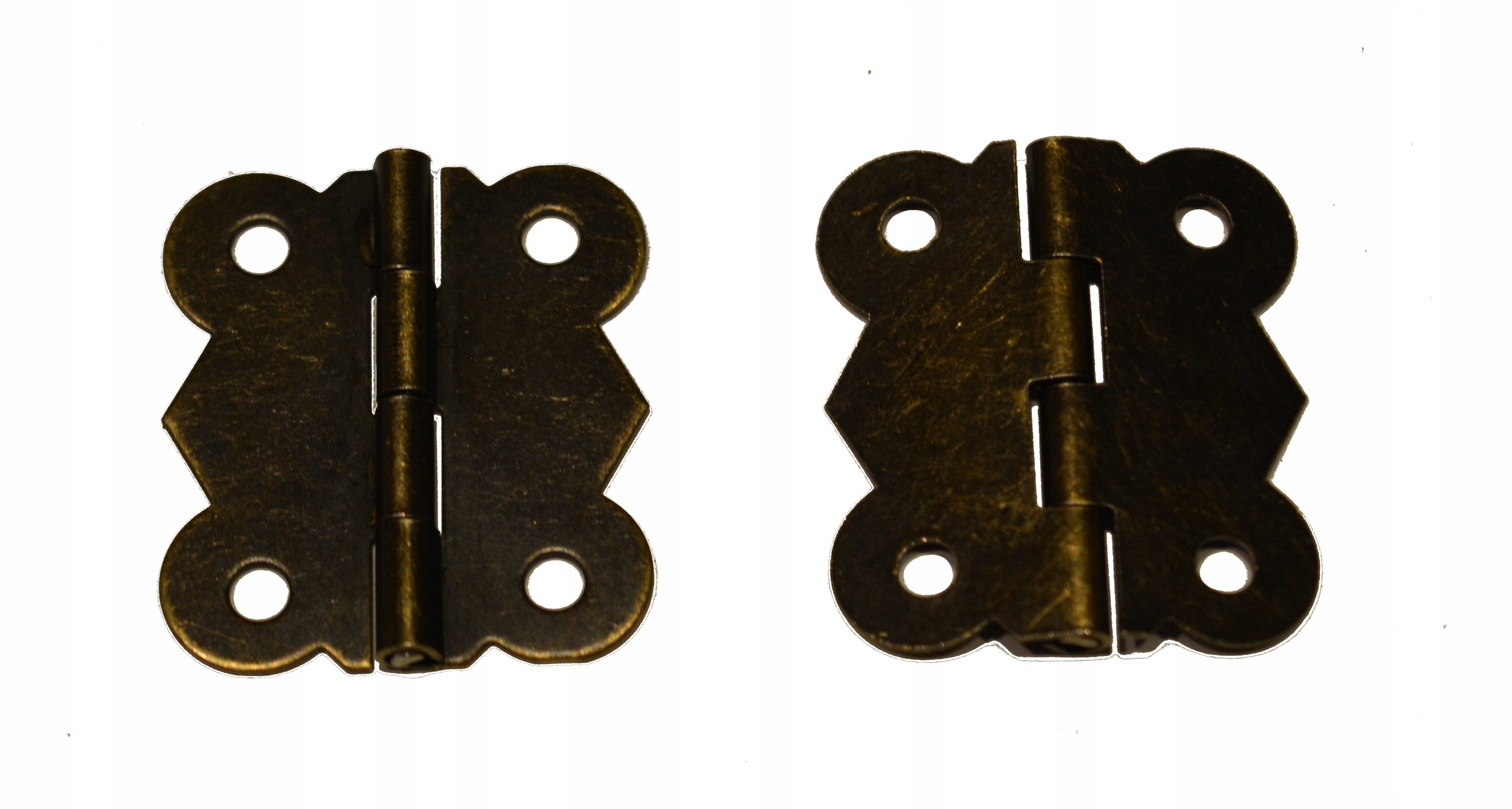 Zawias metalowy duży ozdobny do pudełka 27x30