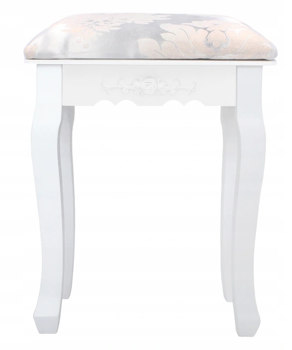 TABORET TOILET STOOL PUFA CHAIR WHITE