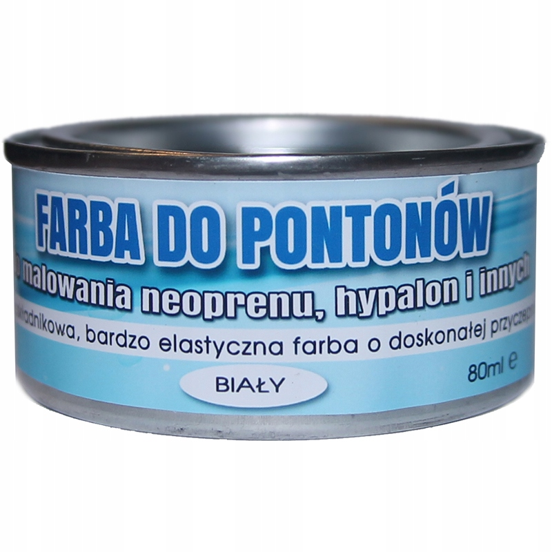 краска для PONTONÓW GUMY NEOPRENU HYPALON БЕЛАЯ 80ML