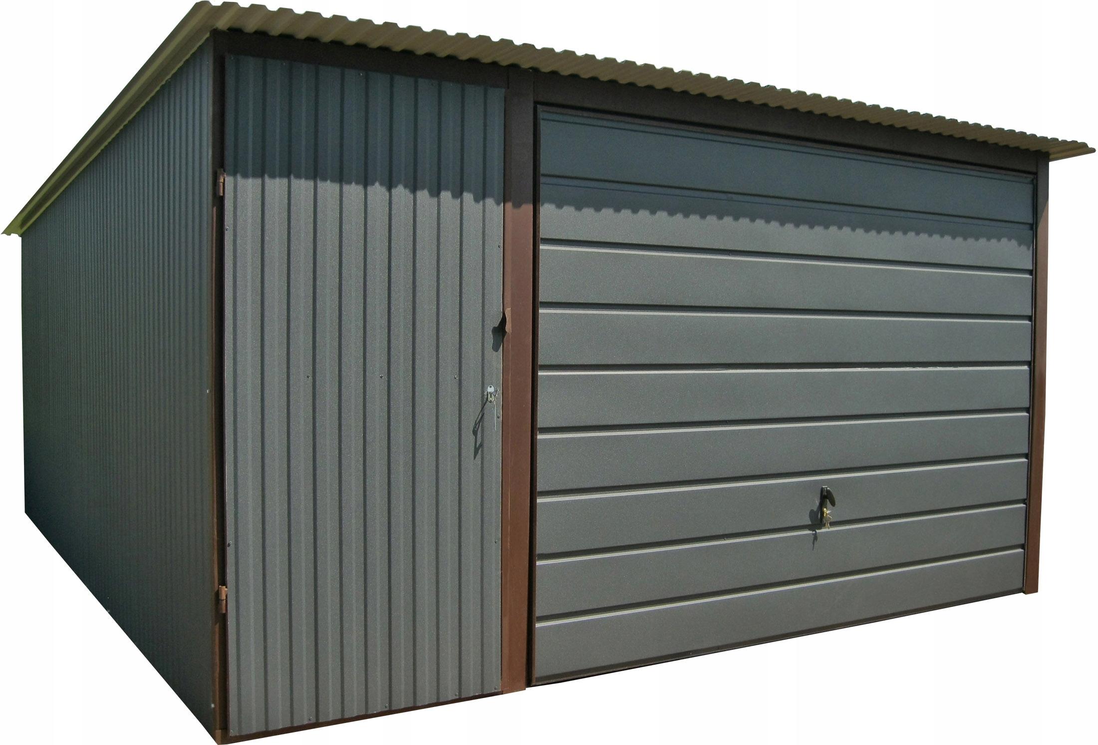 Жестяные гаражи 4x5 Blaszak GRAPHITE Blaszaki Garages