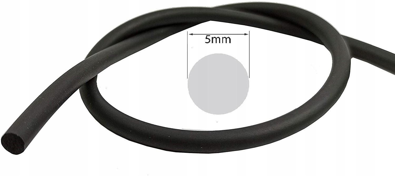 шнур epdm 5mm  прокладка mikroguma  25 метрах