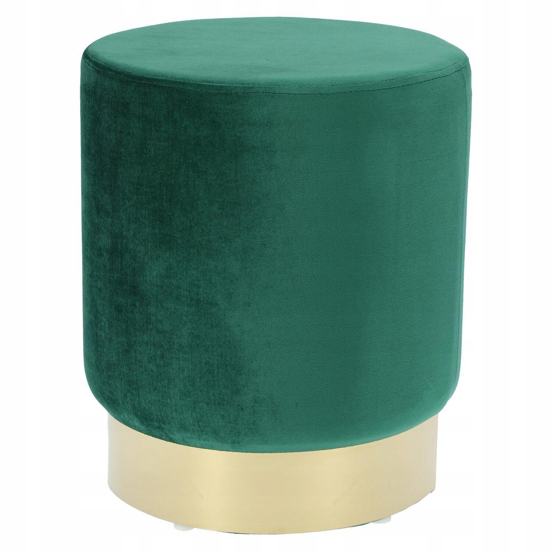 Retro glamour zelené a zlaté pouffe