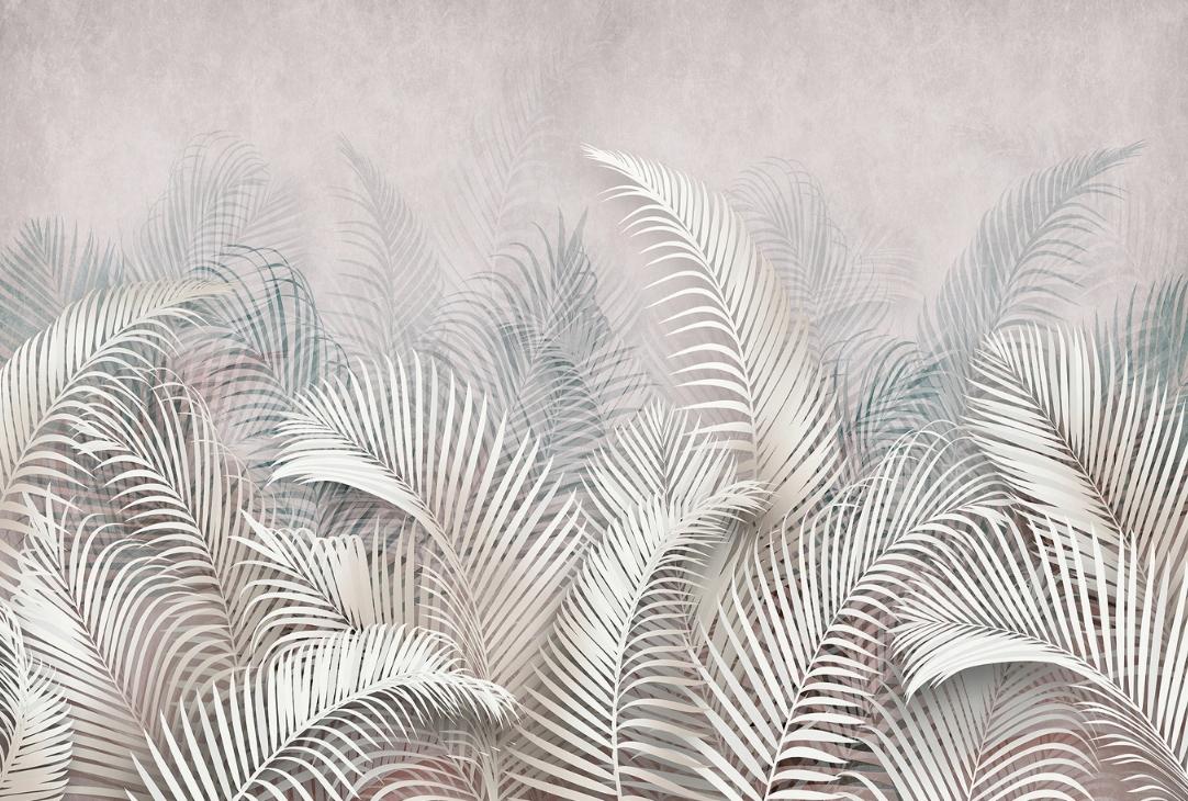Современные обои 3D пальмовые листья wz7 368x248
