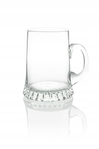 Kufel szklanka do piwa 1L z uchem RĘCZNA PRODUKCJA