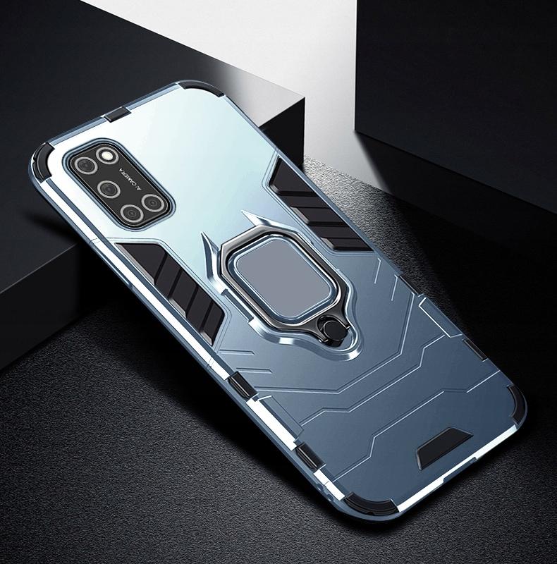 Etui do Oppo A52 A72 A92 Ring Case + Szkło 9H Kolor niebieski