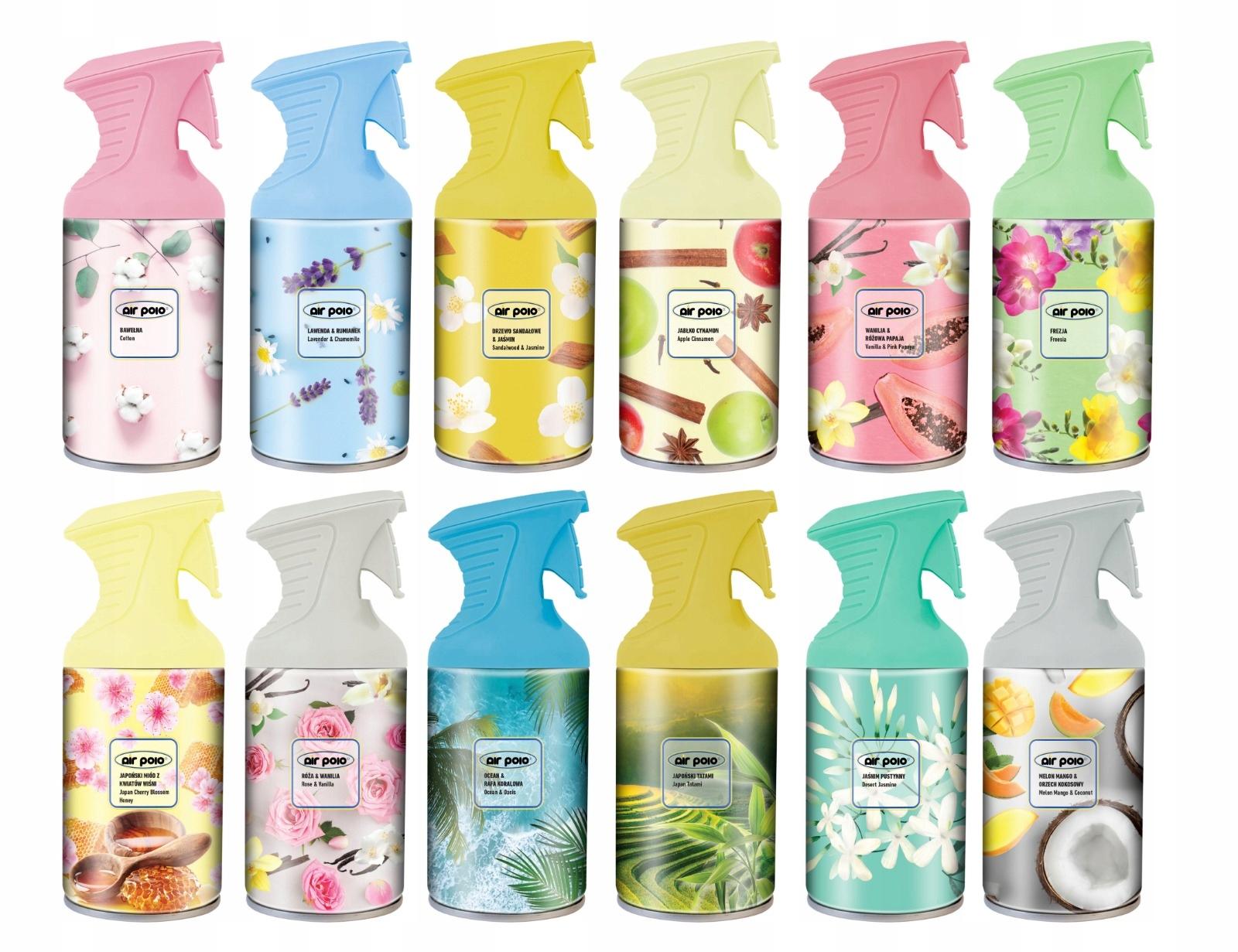 Air polo pure Freshener Spray 12x250 мл ароматов