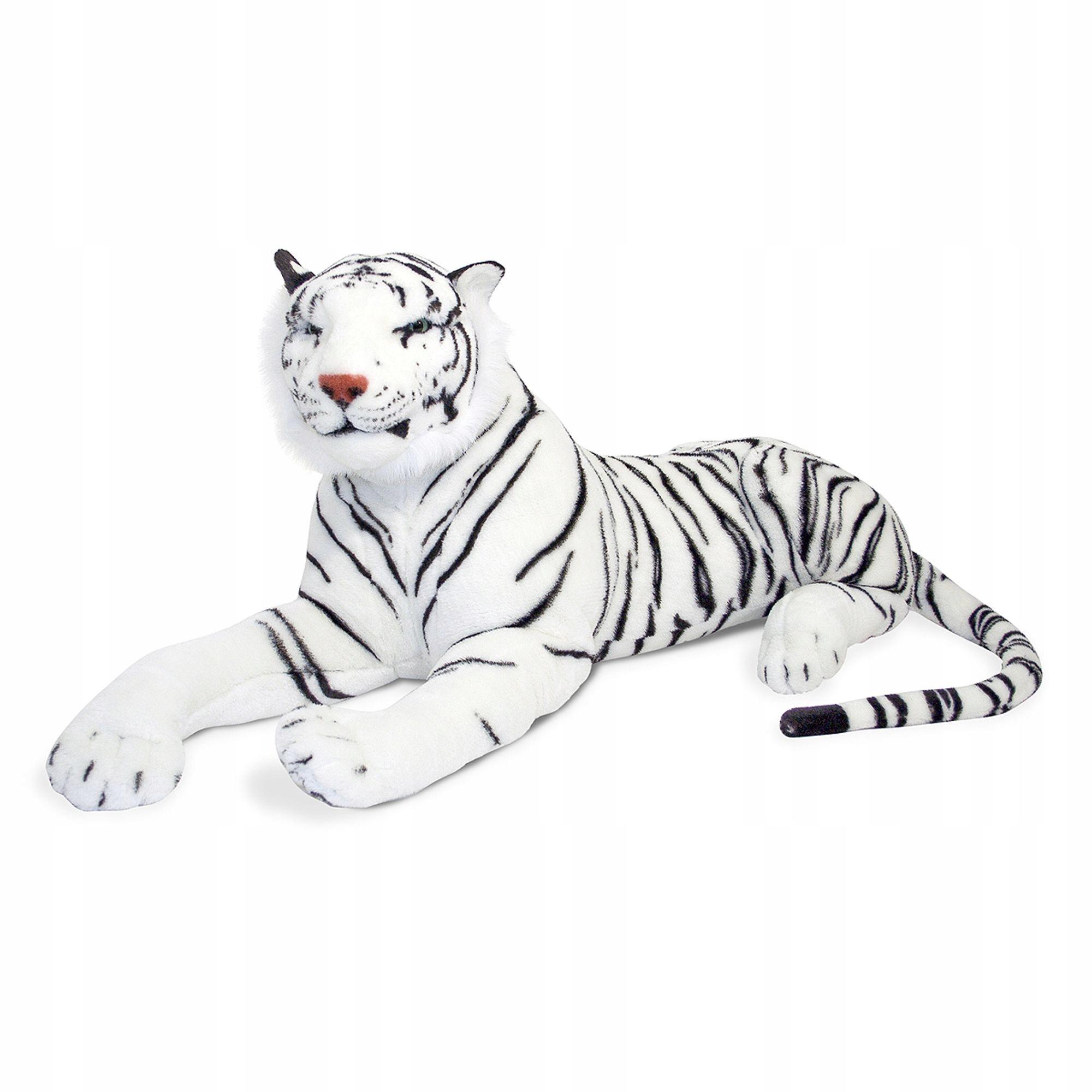 Melissa Doug Veľký biely tigrí plyš pre deti
