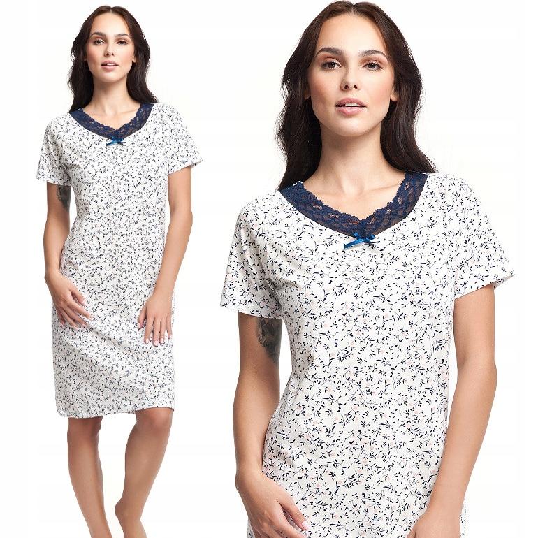 Koszula nocna z koronkowym dekoltem Luna 171 XL