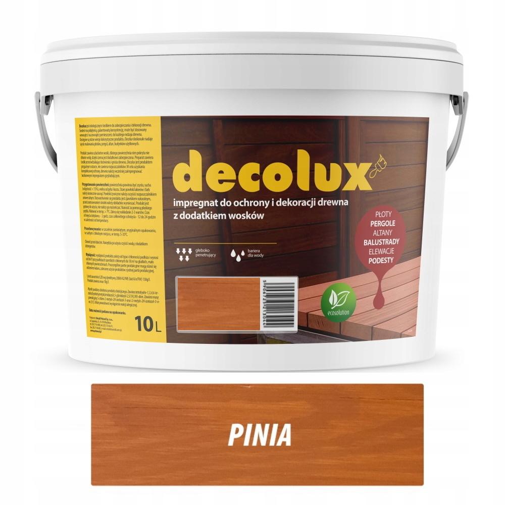DECOLUX IMPREGNAT DO DREWNA WOSK 10L PINIA