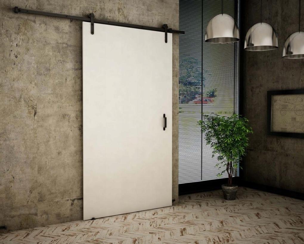 Biele nástenné posuvné dvere Retro RT10