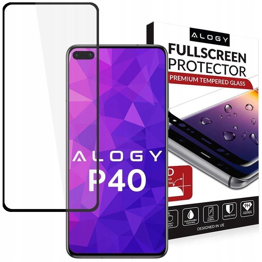 Szkło Hartowane 5D Alogy Full Glue Do Huawei P40