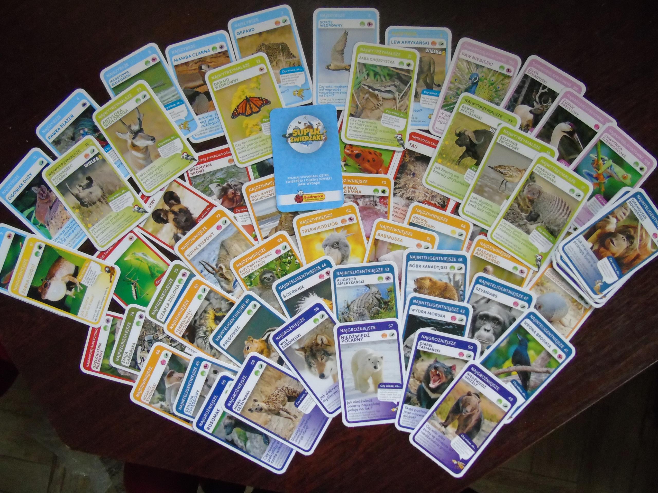 Karty Super Zwierzaki Z Biedronki 4 Szt 1 Zl 9148286782 Allegro Pl