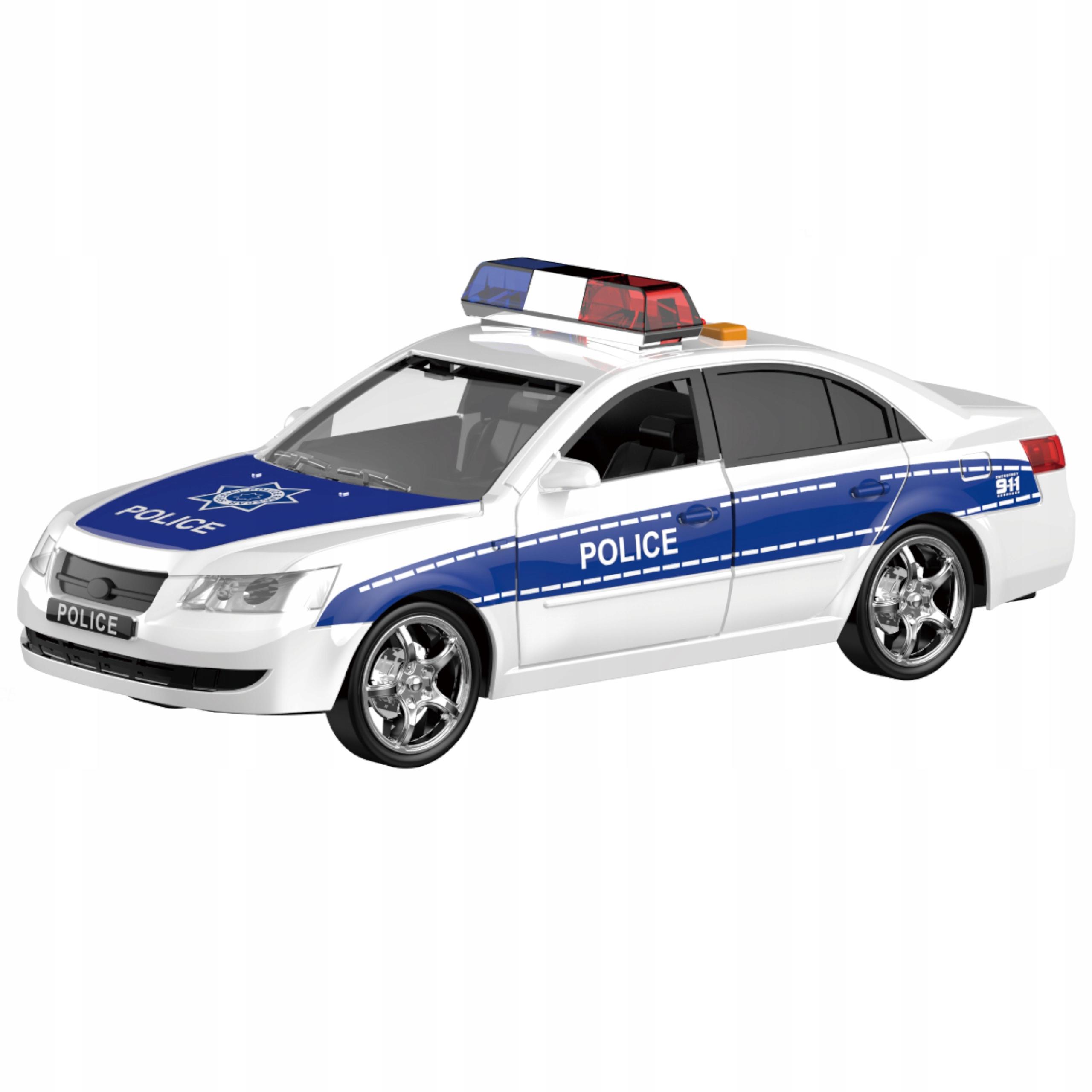 Samochód policyjny otwierane drzwi dźwięki WY560A Model policja