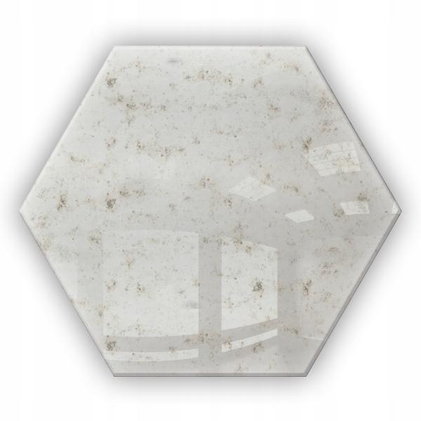 Lustro Antyczne Dekoracyjne Heksagon Samoprzylepne