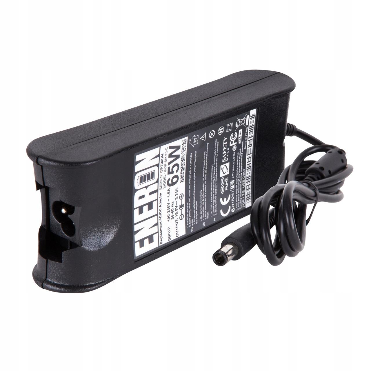 Zasilacz ładowarka laptopa do Dell 65W 19,5v 3,34A Napięcie wyjściowe 19.5 V