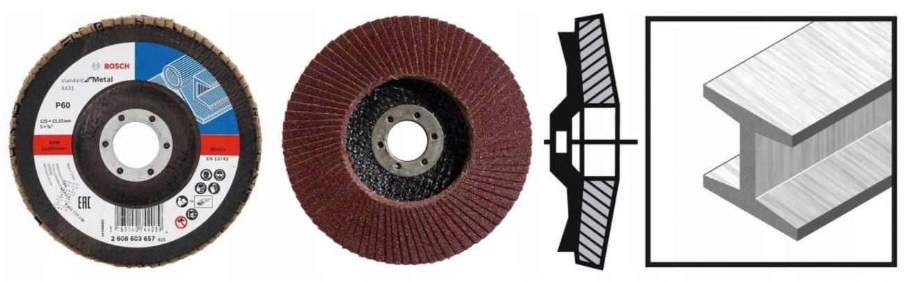 BOSCH Listkowa tarcza szlifierska 125mm P60 10SZT Marka Bosch