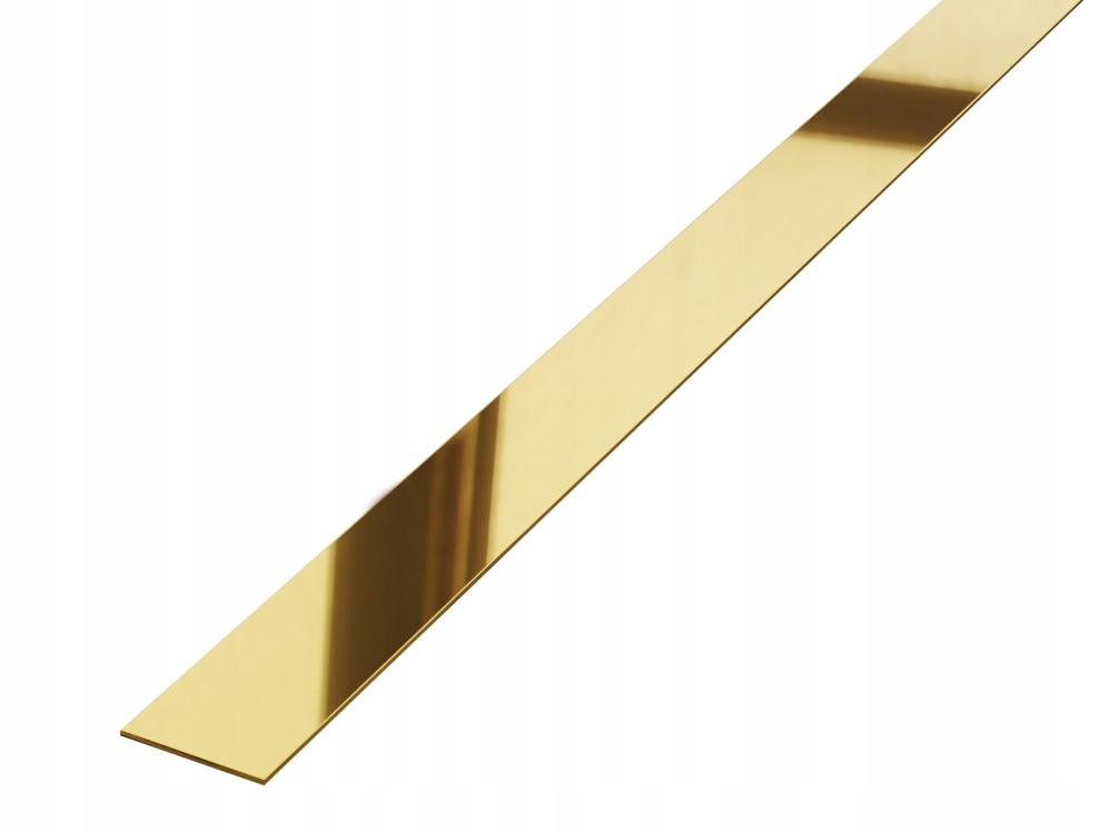 LISTWA METALOWA WYKOŃCZENIOWA ZŁOTA GOLD 2x240cm
