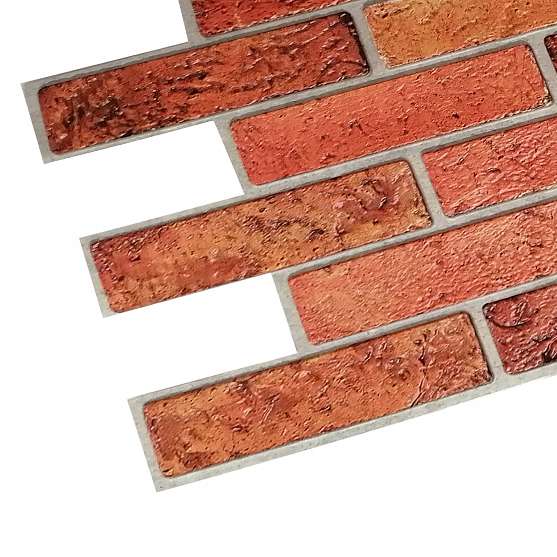 Panele Ścienne PCV 3D Retro Brick Cegła Naturalna