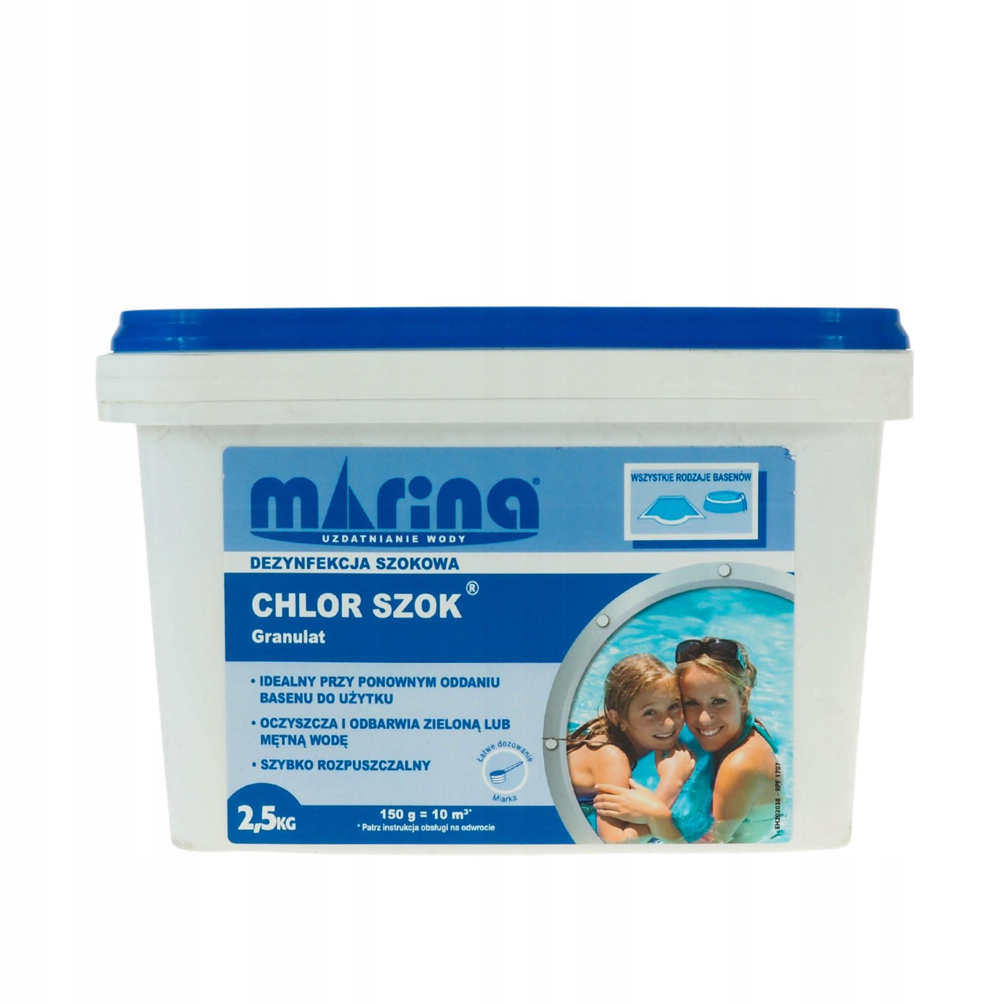 Chlórové šok 2.5kg granule na bazén vodu