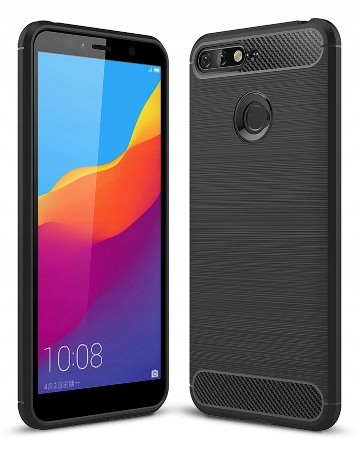 Pancerne ETUI KARBON obudowa TPU do Huawei Y5 2018