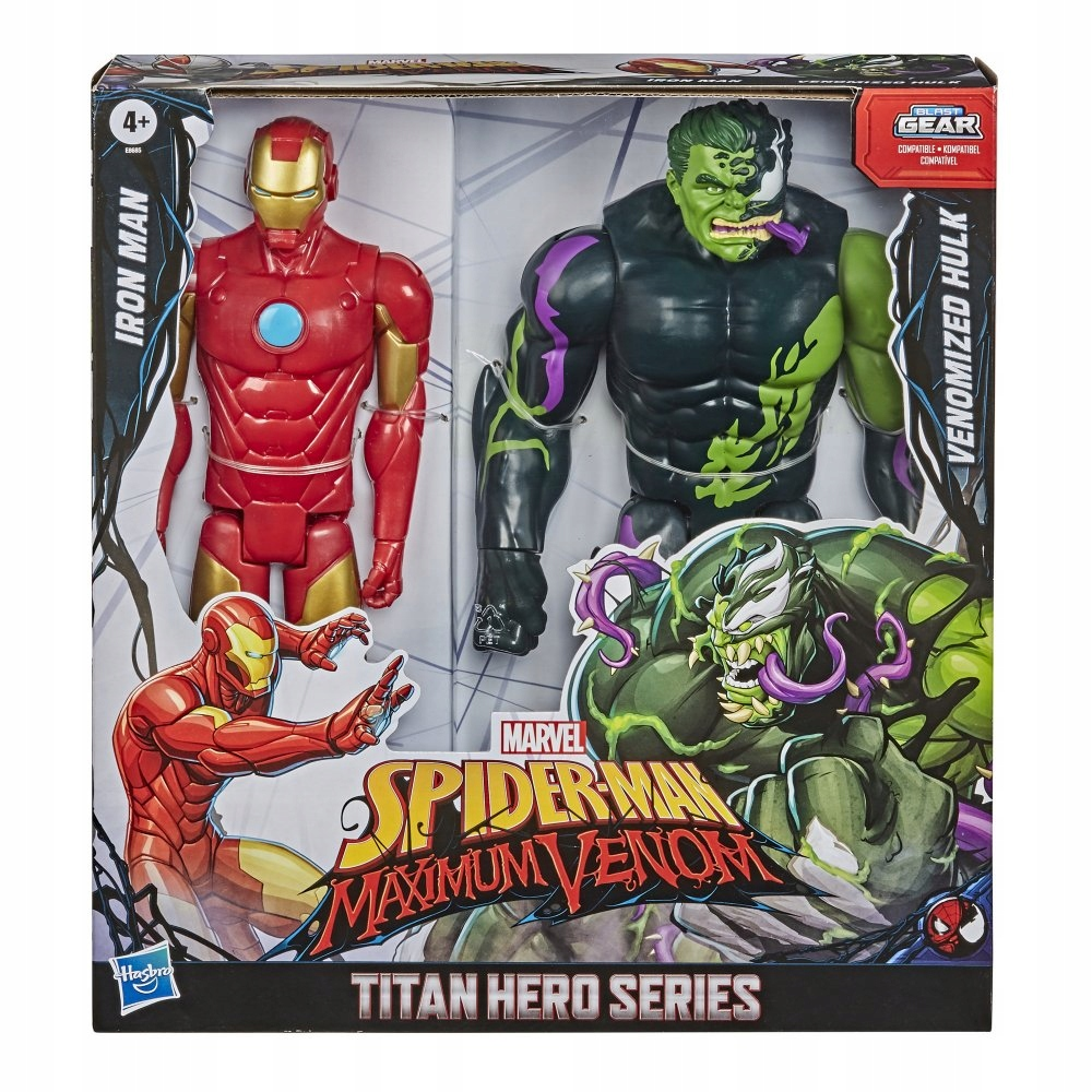 SPIDERMAN Iron Man a Hulk Venomized postava 30 cm