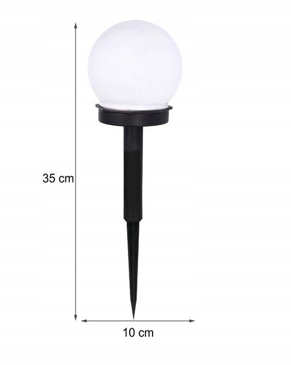 Lampa SOLARNA LED ogrodowa solar KULA 10 cm Marka POLIFACH