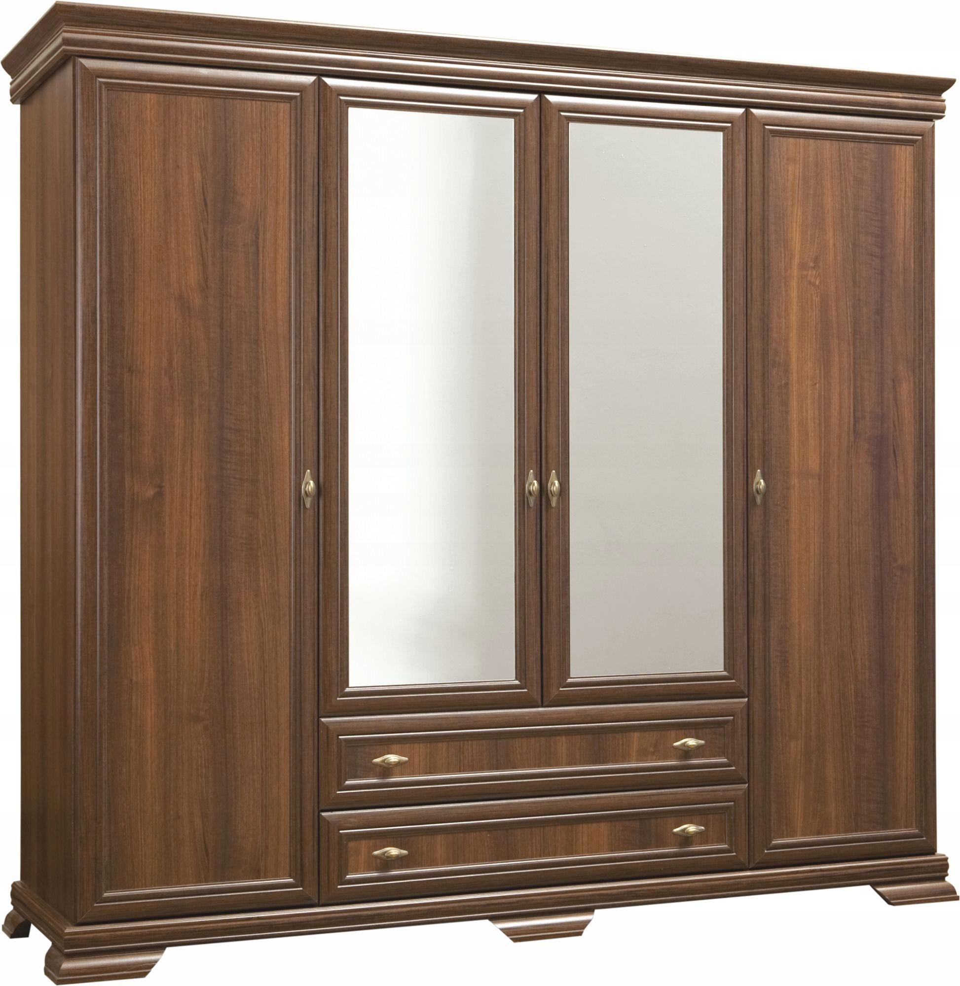 """Skriňa 4-dvere so zrkadlom Samoa """"kráľ"""" retro Porthos"""
