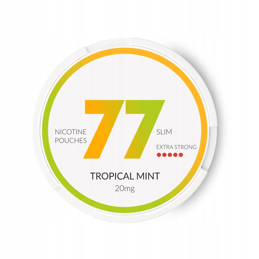 77 Tropical Mint Extra Strong - Beztytoniowy Snus