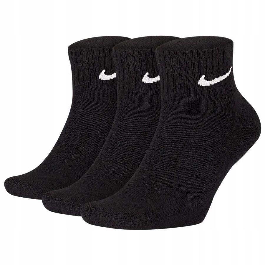 Stopki Skarpetki Damskie Nike 3 pary czarne 38-42