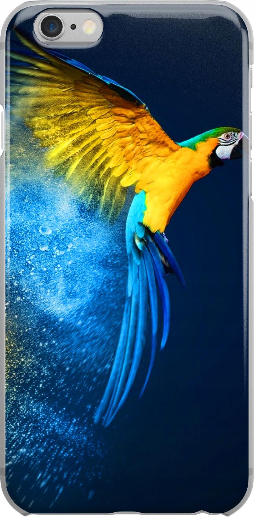 Etui Wzory Papugi Huawei Y8P