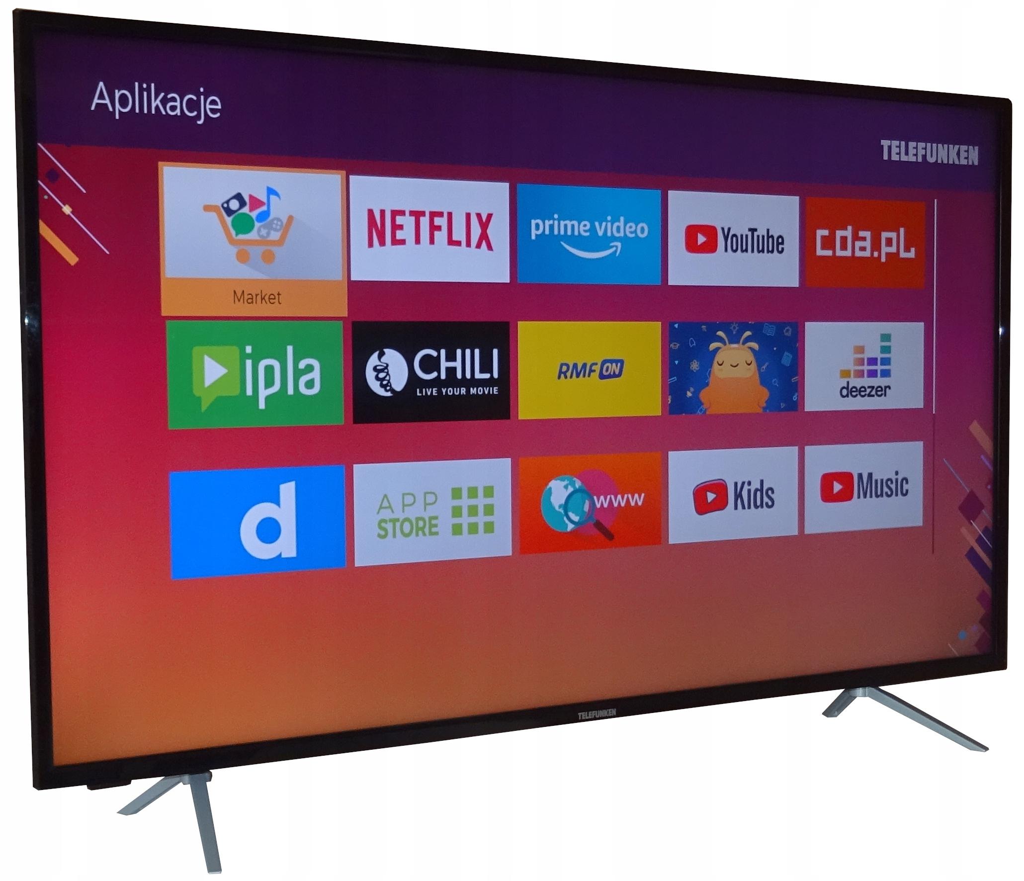 SMART TV TELEFUNKEN D55V800M4CWH 4K HDR Bluetooth