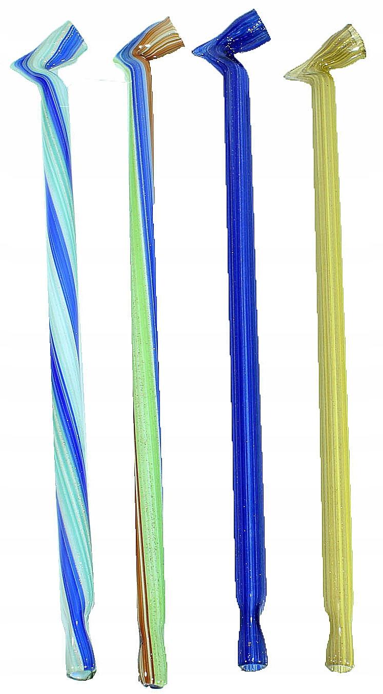 Lufka szklana-fifka hartowa mix kolorów 22cm
