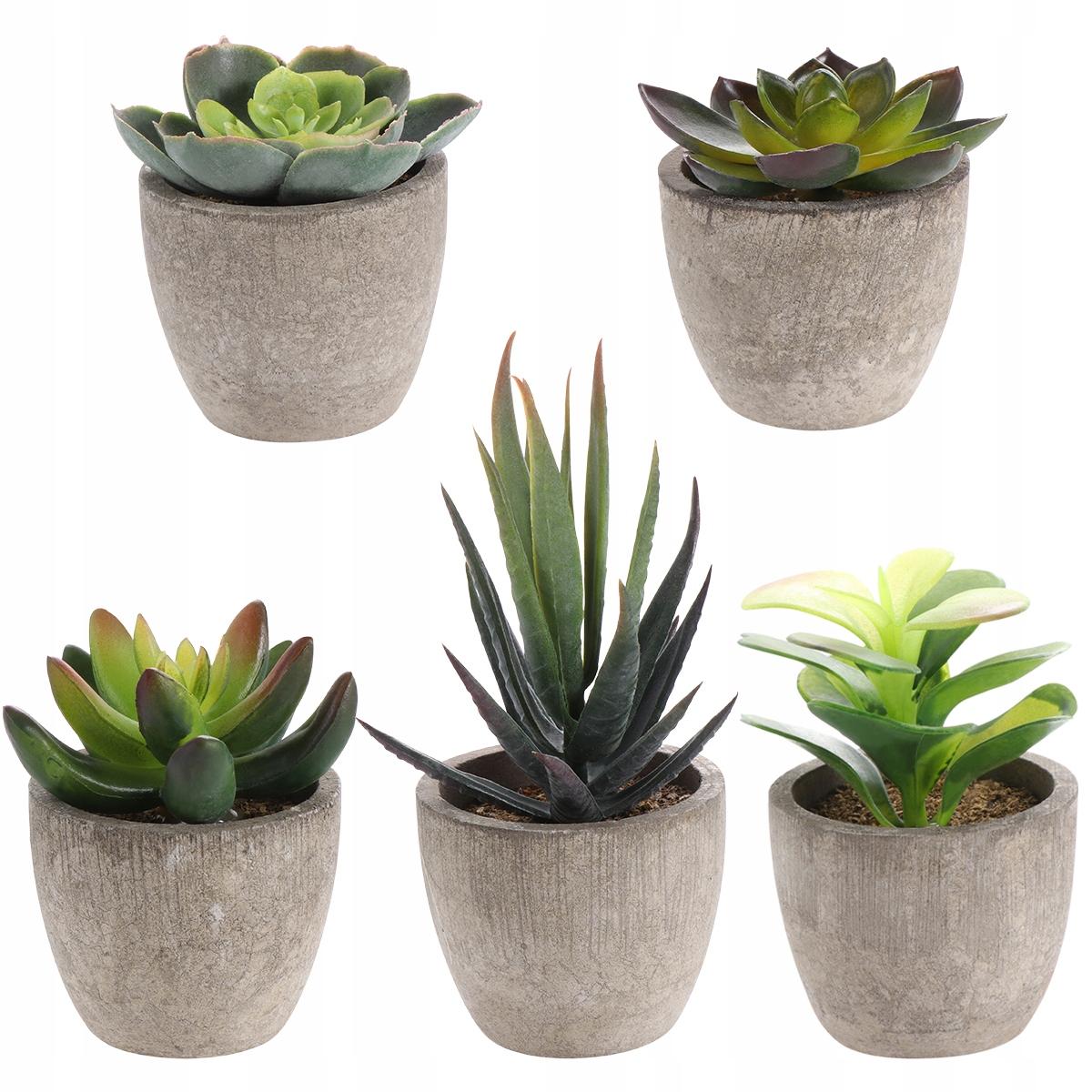 Yardwe 5PCS Retro Artificial Succulents Simulation