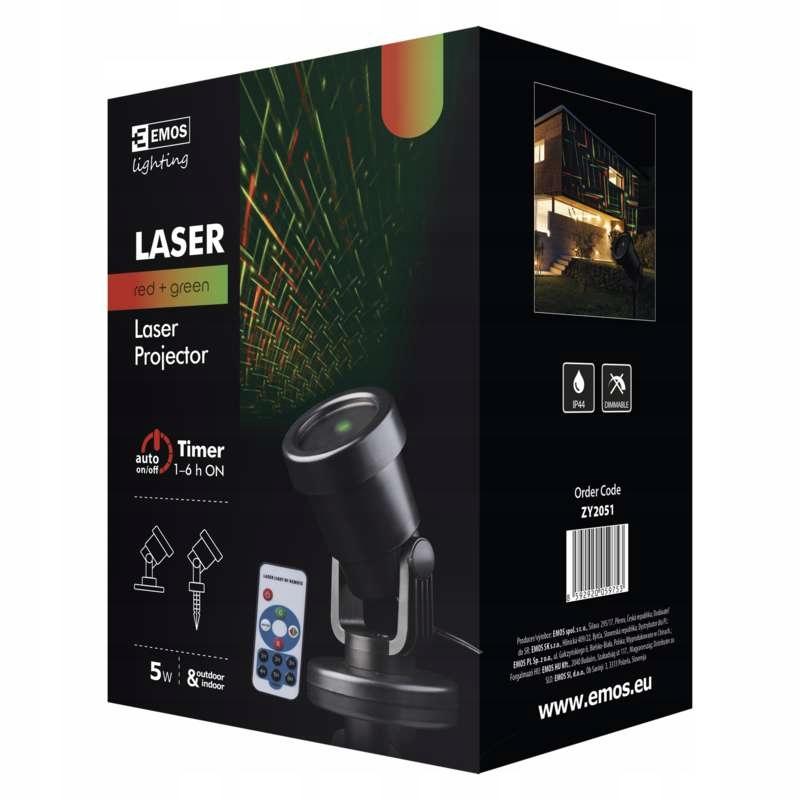 Laserový projektor červený / zelený časovač 3 prog pilot