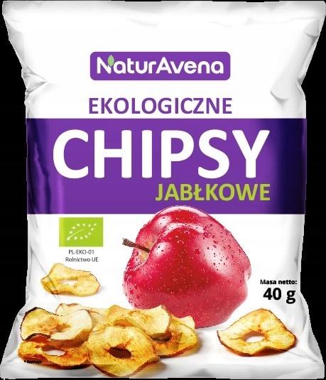 Купить Чипсы яблочные BIO натуральные 40г NaturAvena на Otpravka - цены и фото - доставка из Польши и стран Европы в Украину.