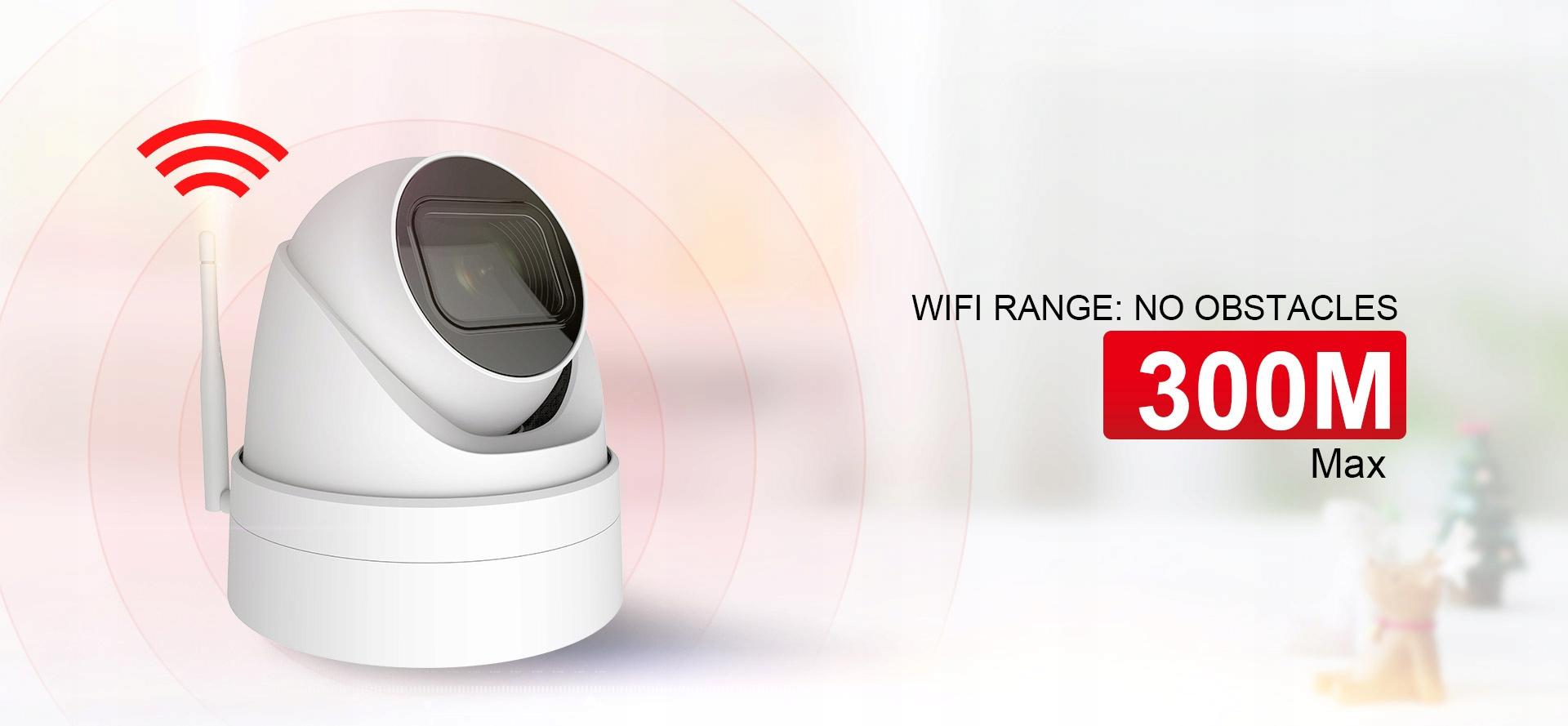 KAMERA IP WIFI 5MPX KOPUŁOWA mSD 128GB Ir40m 3,6mm Technologia IP