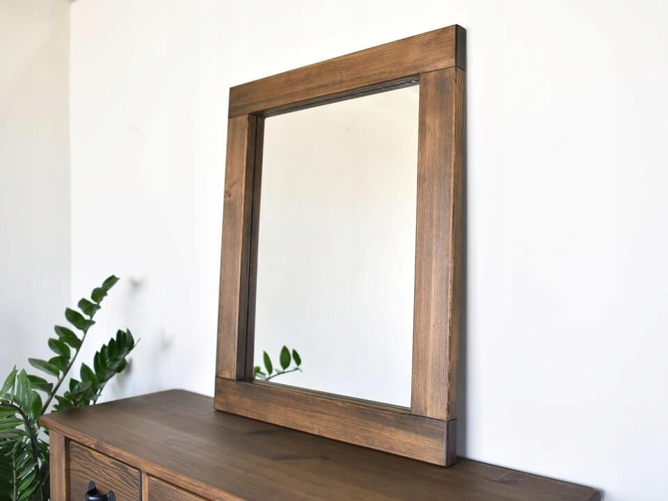 Zrkadlo v Drevenom Ramenný 88x72 RUSTIKÁLNY RETRO