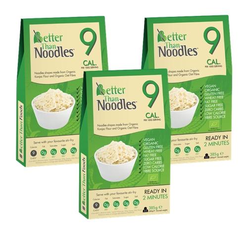Konjac Noodles без глютена BIO 3x385g