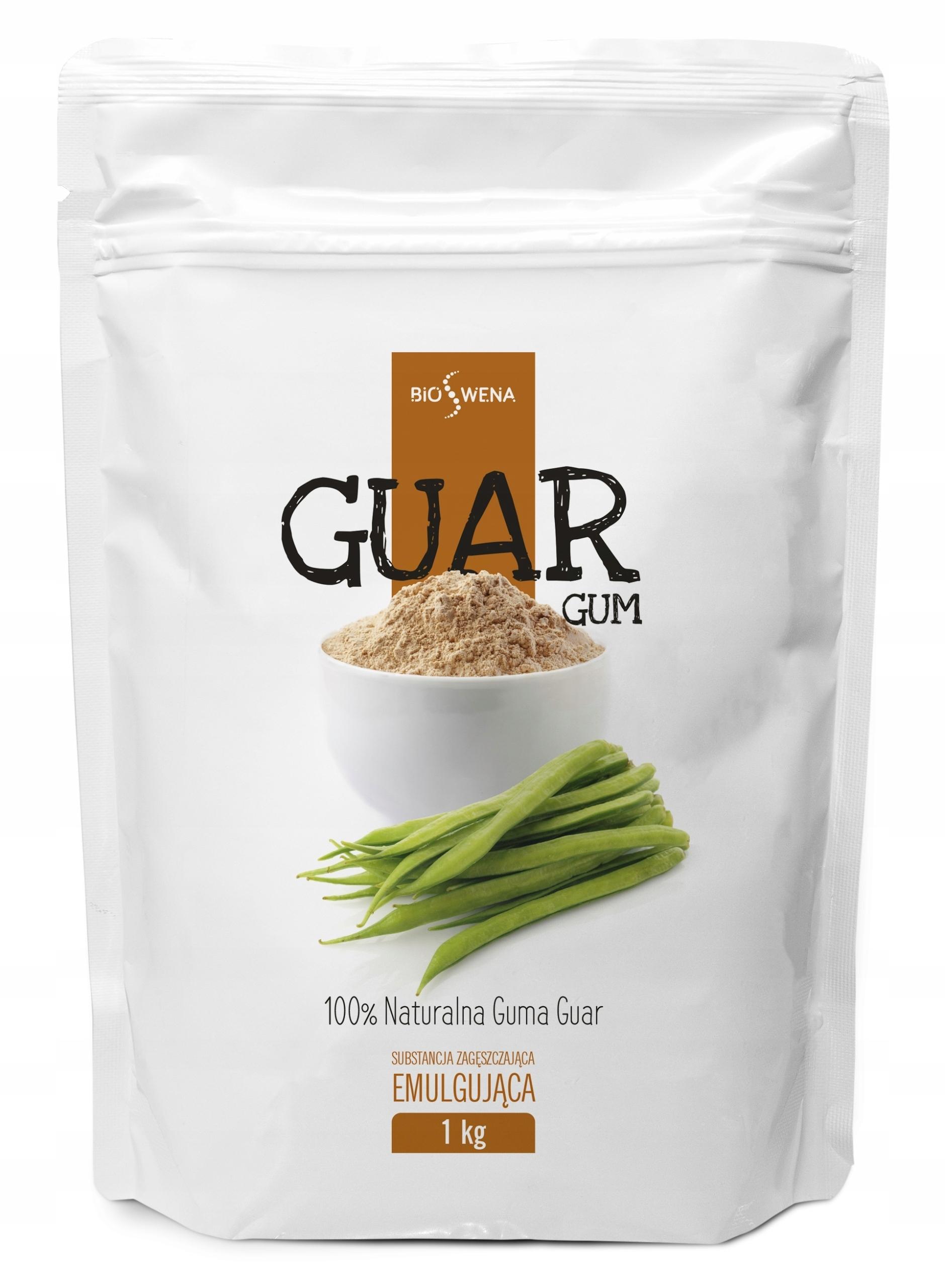 GUMA GUAR 1kg / Naturalna, czysta MOCNA / BIOSWENA