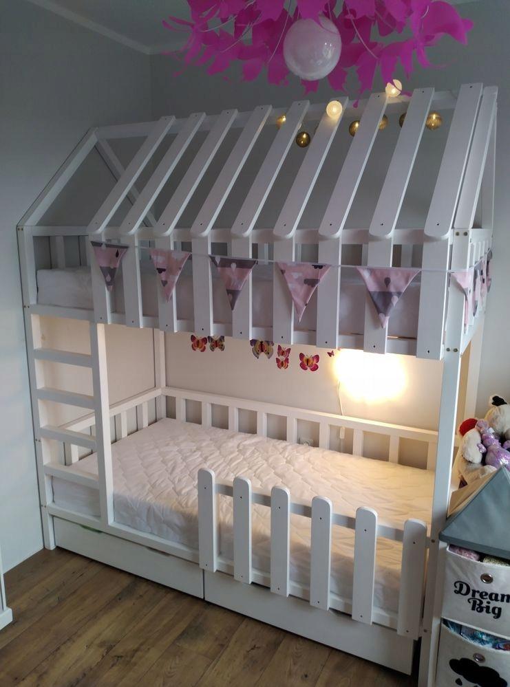 Кровать двухъярусная с плиткой 90х180 + 2 ящика