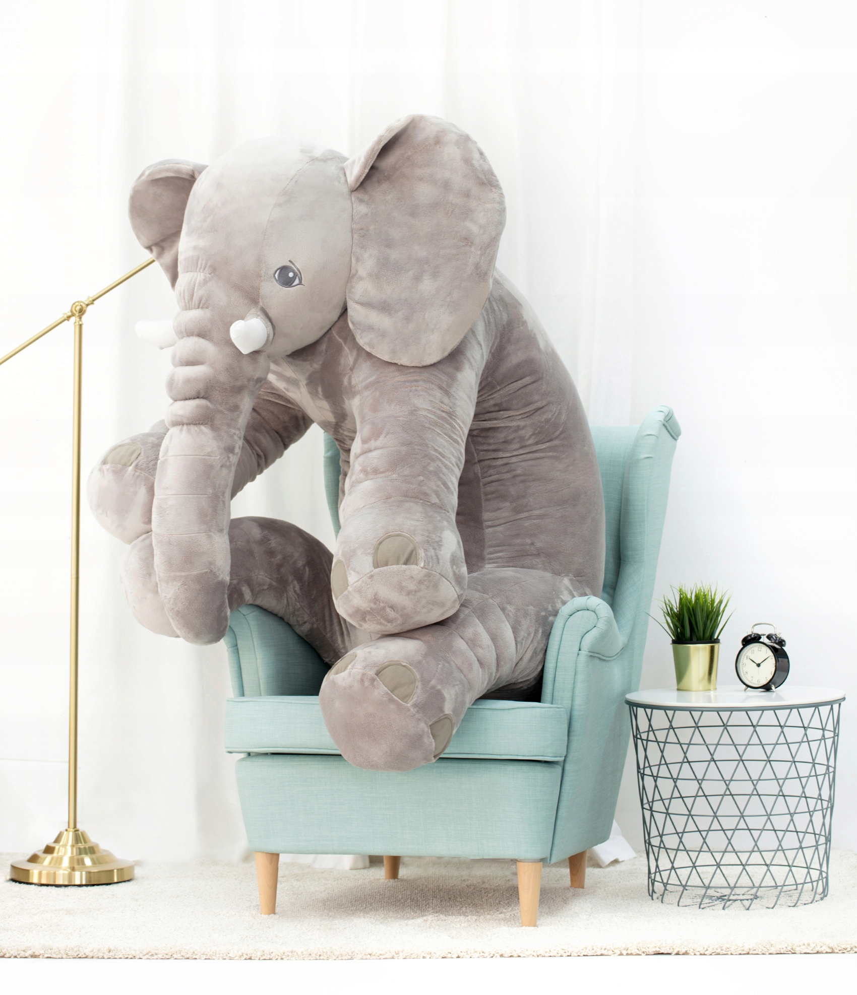 ELEPHANT PLUSH CUSHION 150cm